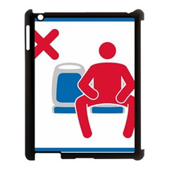 No Manspreading Sign Apple Ipad 3/4 Case (black)