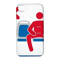 No Manspreading Sign Apple Iphone 4/4s Hardshell Case With Stand