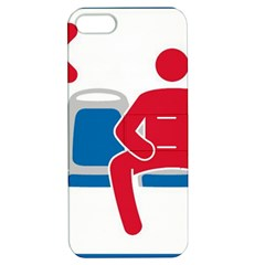 No Manspreading Sign Apple Iphone 5 Hardshell Case With Stand