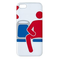 No Manspreading Sign Apple Iphone 5 Premium Hardshell Case
