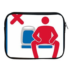 No Manspreading Sign Apple Ipad 2/3/4 Zipper Cases