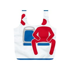 No Manspreading Sign Full Print Recycle Bags (s)