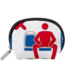 No Manspreading Sign Accessory Pouches (small)