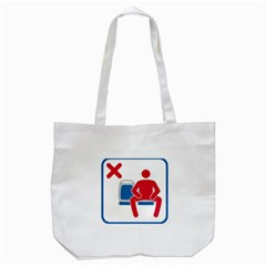 No Manspreading Sign Tote Bag (white)