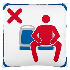 No Manspreading Sign Large Flano Cushion Case (one Side)
