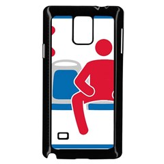 No Manspreading Sign Samsung Galaxy Note 4 Case (black)