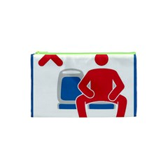 No Manspreading Sign Cosmetic Bag (xs)
