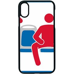 No Manspreading Sign Apple Iphone X Seamless Case (black)