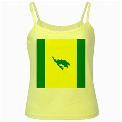 Flag Of Culebra Yellow Spaghetti Tank