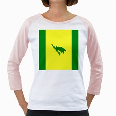 Flag Of Culebra Girly Raglans