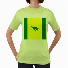 Flag Of Culebra Women s Green T Shirt