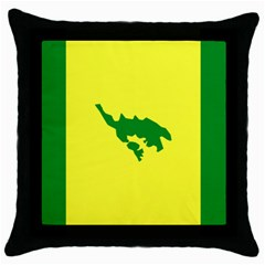 Flag Of Culebra Throw Pillow Case (black)