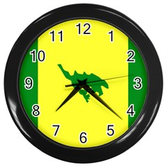Flag Of Culebra Wall Clocks (black)