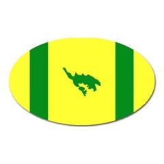 Flag Of Culebra Oval Magnet by abbeyz71