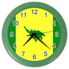 Flag Of Culebra Color Wall Clocks