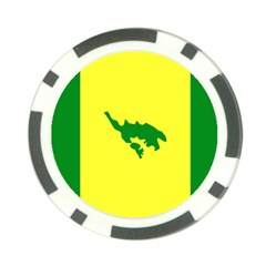Flag Of Culebra Poker Chip Card Guard