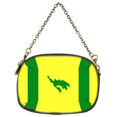 Flag Of Culebra Chain Purses (one Side)