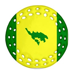 Flag Of Culebra Round Filigree Ornament (two Sides)