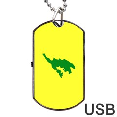Flag Of Culebra Dog Tag Usb Flash (one Side)