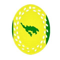 Flag Of Culebra Ornament (oval Filigree) by abbeyz71