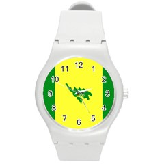 Flag Of Culebra Round Plastic Sport Watch (m)