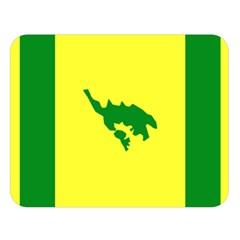 Flag Of Culebra Double Sided Flano Blanket (large)