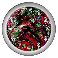 Bloody Coffee 6 Wall Clocks (silver)  by bestdesignintheworld