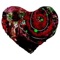 Bloody Coffee 5 Large 19  Premium Heart Shape Cushions by bestdesignintheworld