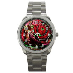 Bloody Coffee 5 Sport Metal Watch by bestdesignintheworld