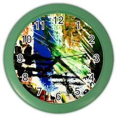 Alaska Industrial Landscape Color Wall Clocks