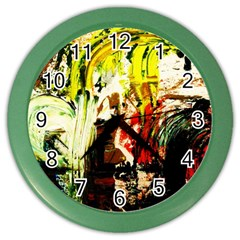 Alaska Industrial Landscape 1 Color Wall Clocks