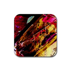 Absurd Theater In And Out 5 Rubber Coaster (square)