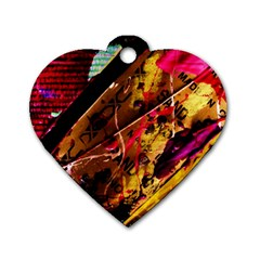 Absurd Theater In And Out 5 Dog Tag Heart (two Sides)
