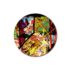 Absurd Theater In And Out Magnet 3  (round) by bestdesignintheworld