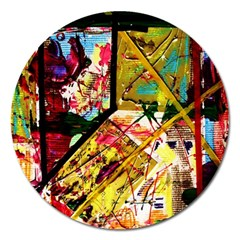 Absurd Theater In And Out Magnet 5  (round) by bestdesignintheworld
