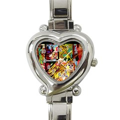 Absurd Theater In And Out Heart Italian Charm Watch