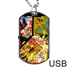 Absurd Theater In And Out Dog Tag Usb Flash (one Side) by bestdesignintheworld