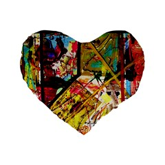 Absurd Theater In And Out Standard 16  Premium Flano Heart Shape Cushions by bestdesignintheworld