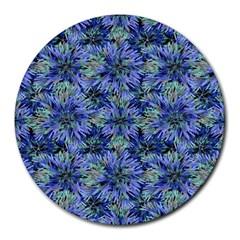 Modern Nature Print Pattern 7200 Round Mousepads