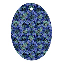 Modern Nature Print Pattern 7200 Ornament (oval) by dflcprints