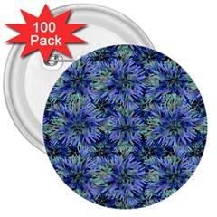 Modern Nature Print Pattern 7200 3  Buttons (100 Pack)