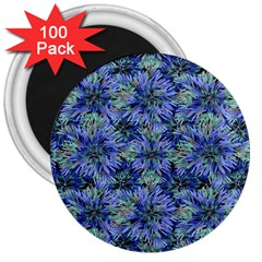 Modern Nature Print Pattern 7200 3  Magnets (100 Pack)