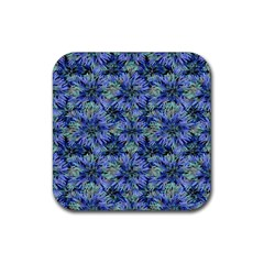 Modern Nature Print Pattern 7200 Rubber Square Coaster (4 Pack)