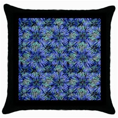 Modern Nature Print Pattern 7200 Throw Pillow Case (black)