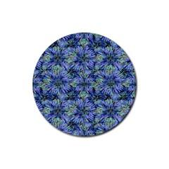 Modern Nature Print Pattern 7200 Rubber Round Coaster (4 Pack)