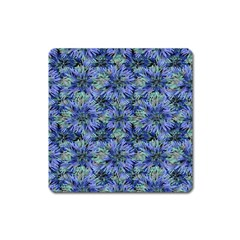 Modern Nature Print Pattern 7200 Square Magnet