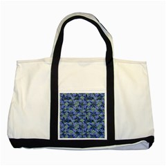 Modern Nature Print Pattern 7200 Two Tone Tote Bag