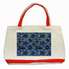 Modern Nature Print Pattern 7200 Classic Tote Bag (red)