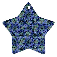 Modern Nature Print Pattern 7200 Star Ornament (two Sides)
