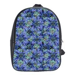 Modern Nature Print Pattern 7200 School Bag (large)